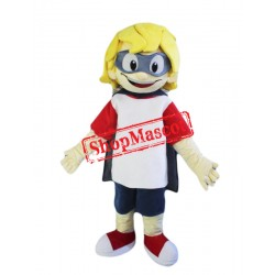 Yellow Hair Boy Mascot Costume