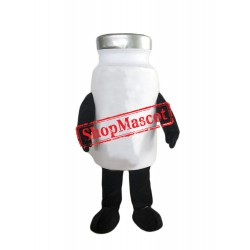 White Bottle Mascot Costume