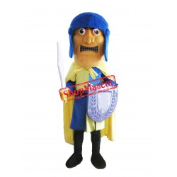 Blue Solider Mascot Costume