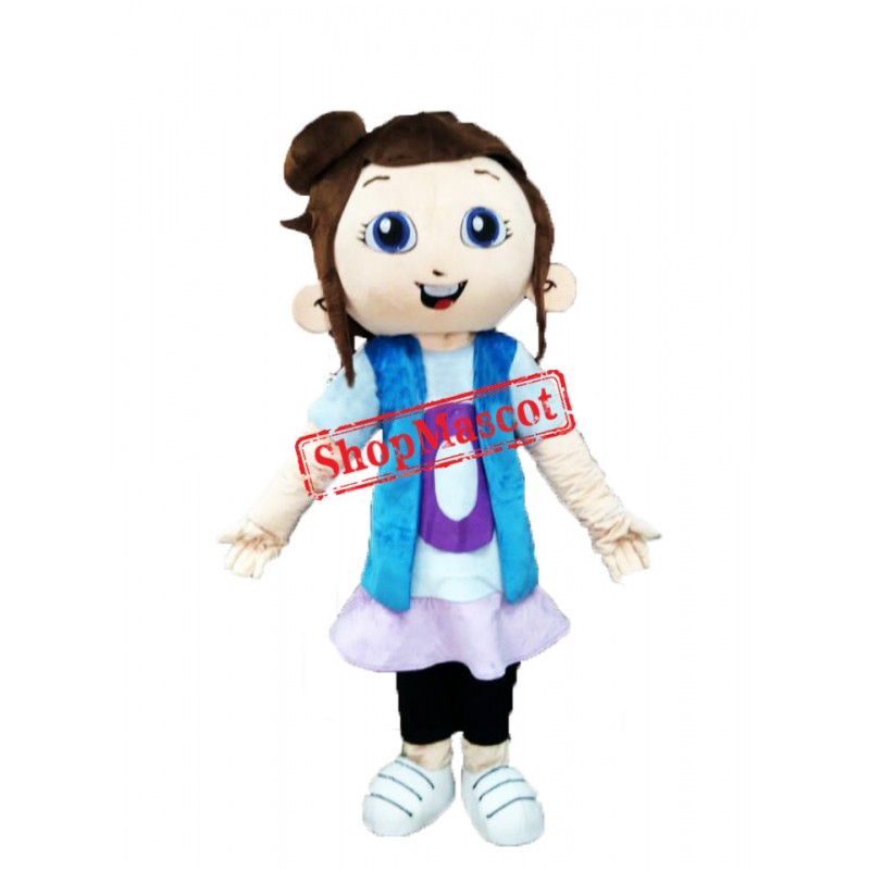 Cute Girl Mascot Costume Free Shipping