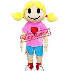 Surfer Girl Mascot Costume
