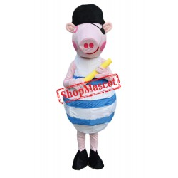 Pirate Peppa Pig Mascot Costume
