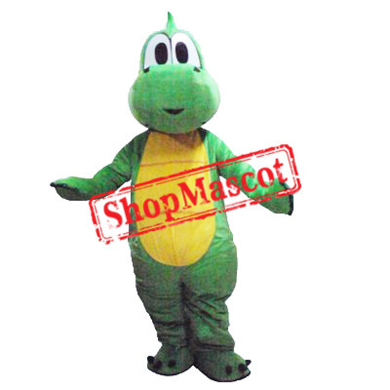 Cute Green Lightweight Dinosaur Mascot Costume