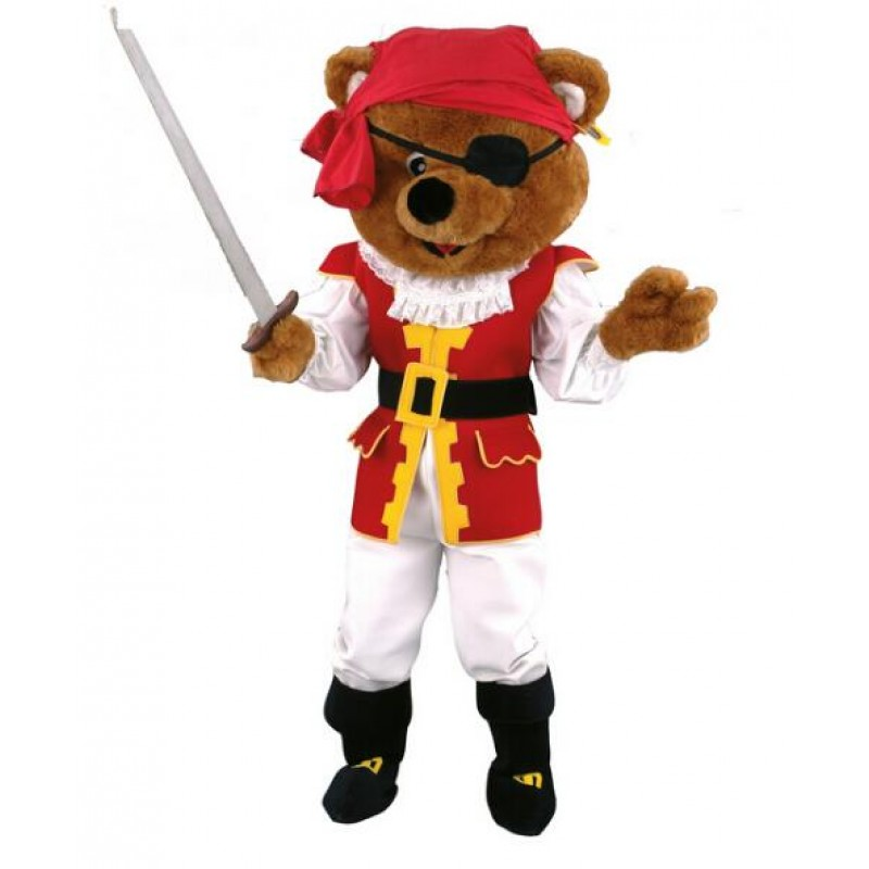 Pirates Brown Bear Mascot Costume Free Shipping