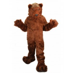 Long Hair Plush Grizzly Bear Mascot Costume