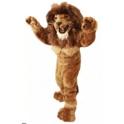 Friendly Lion Mascot Costume Power Lion Costume for Adult