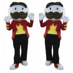 Long Brown Beard Boy Mascot Costume