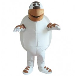 Brown-White Sea Turtle Mascot Costume Suit for Adult