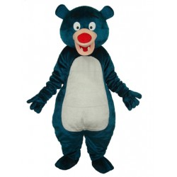 Second Version Blue Bear Short Plush Adult Mascot Costume