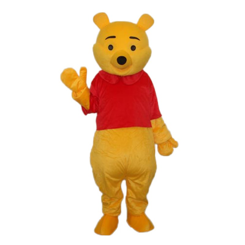 Second Version Pooh Bear Mascot Adult Costume