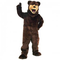 Grizzly Bear Mascot Costume Best070