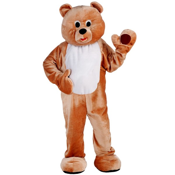 Mens Deluxe Honey Bear Mascot Costume
