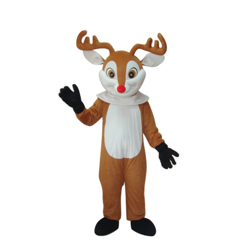Golden Sika Deer Mascot Adult Costume Free Shipping