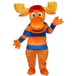 Striped Deer Mascot Adult Costume Free Shipping