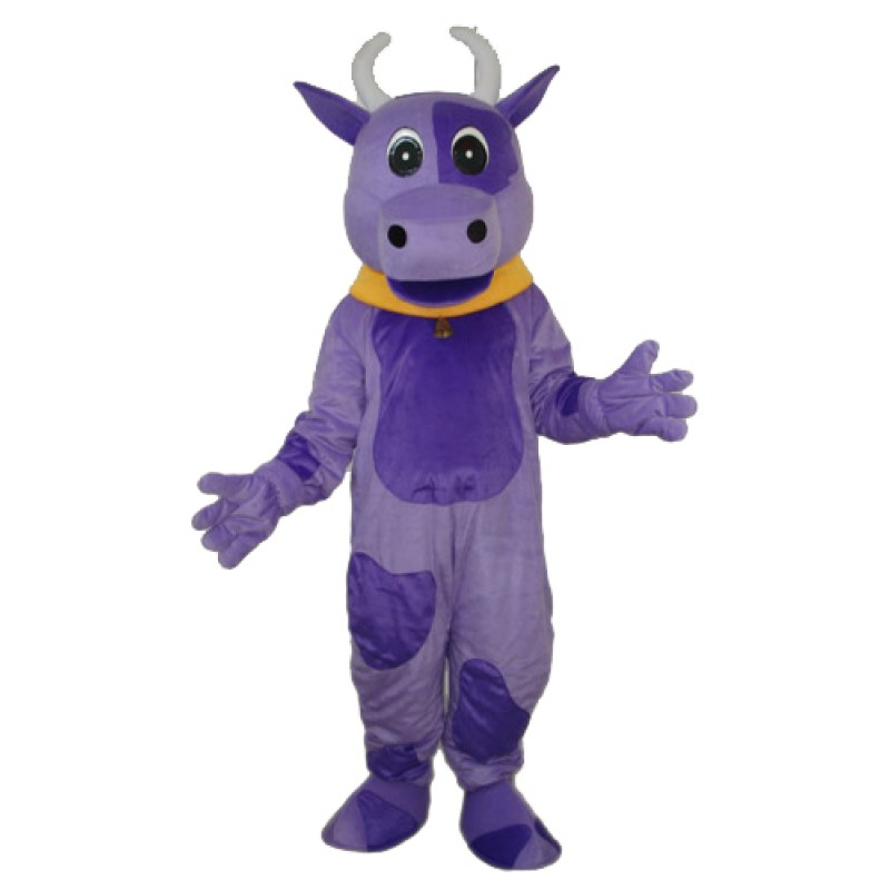 Purple Cow Mascot Adult Costume Free Shipping