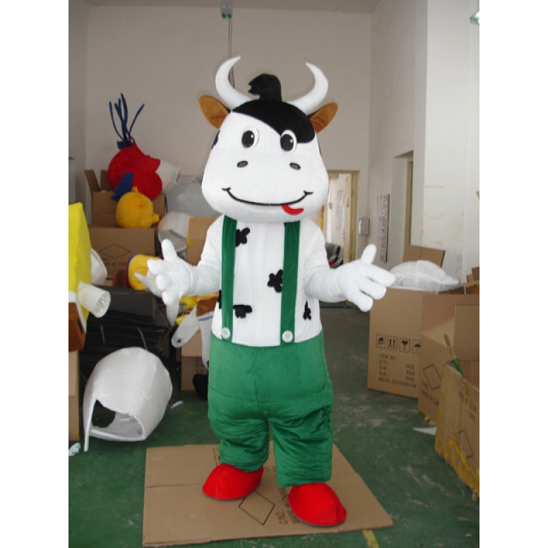 Green Cattle Mascot Costume Free Shipping