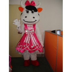 Pink Cattle Mascot Costume Free Shipping