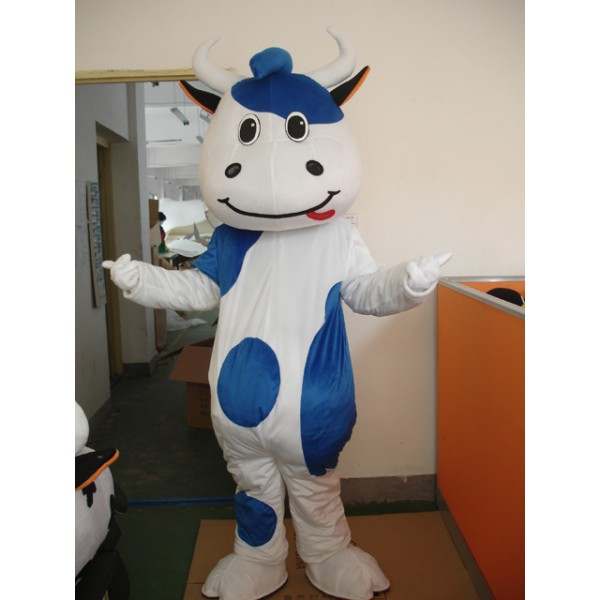 Blue Cattle Mascot Costume Free Shipping