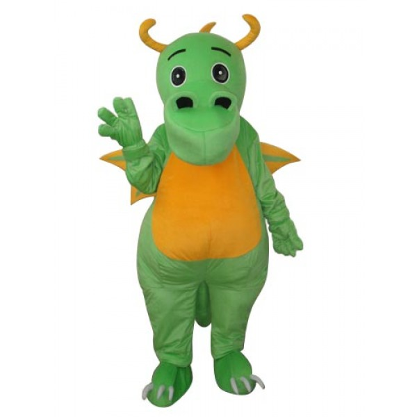 Big Nose Green Dinosaur Mascot Adult Costume Free Shipping