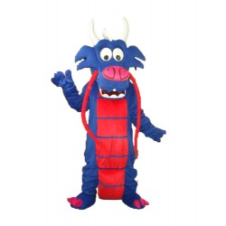 Blue Mushu Mascot Adult Costume Free Shipping