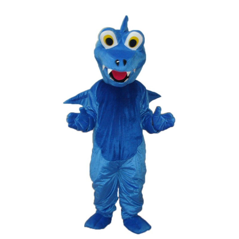 Blue Thorn Dragon Mascot Adult Costume Free Shipping