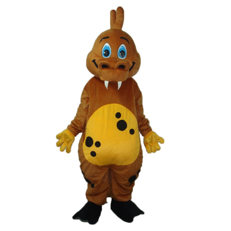 Golden Brown Dinosaur Mascot Adult Costume Free Shipping