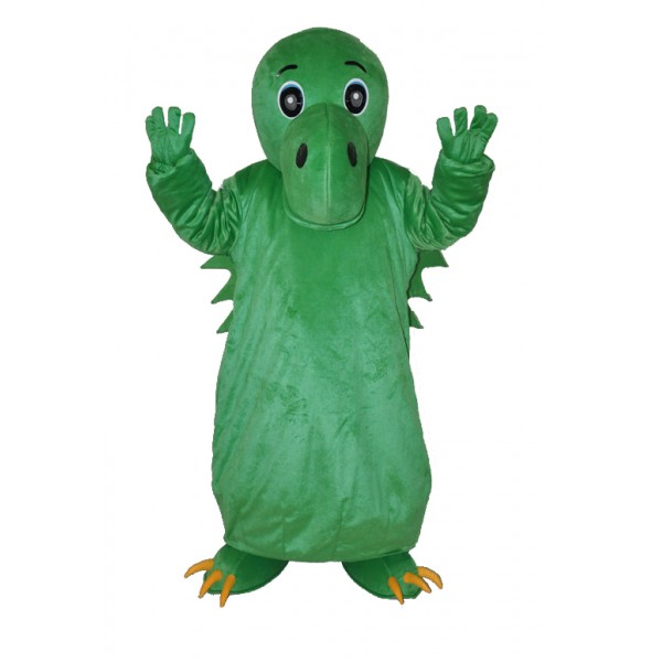 Green Chinese Dinosaur Adult Mascot Costume Free Shipping