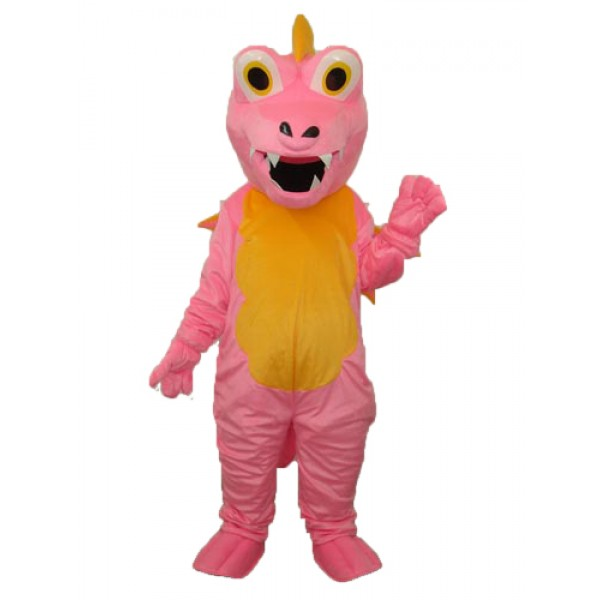 Pink Long Thorn Dragon Mascot Adult Costume Free Shipping