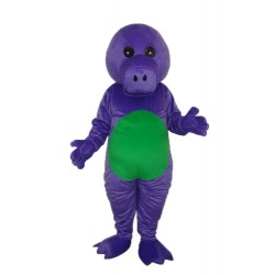 Purple Dinosaur Mascot Adult Costume Free Shipping