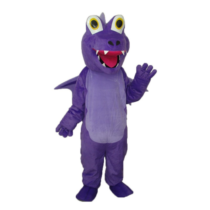 Purple Thorn Dragon Mascot Adult Costume Free Shipping