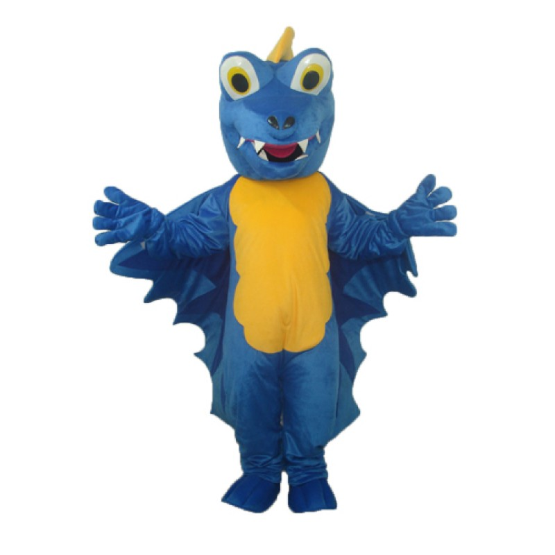 Revision Blue Dinosaur Mascot Adult Costume Free Shipping