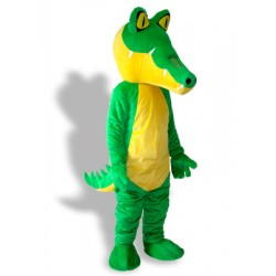 Long Mouth Green Crocodile Adult Mascot Costume Free Shipping