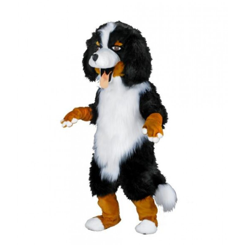 White & Black Sheep Dog Mascot Costume Free Shipping