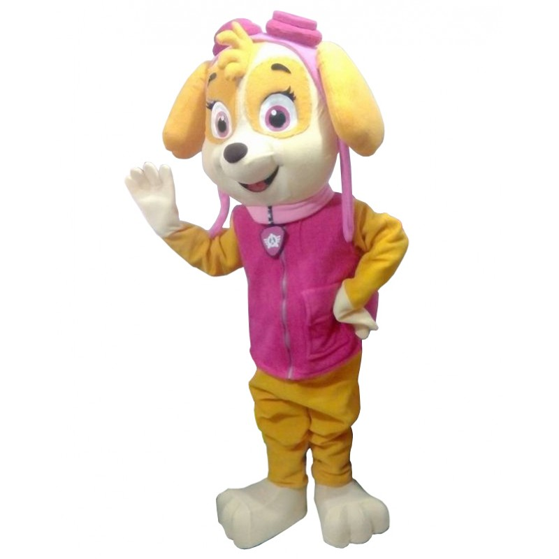 Pink Girl Paw Patrol Skye Cartoon Mascot Costume Free Shipping