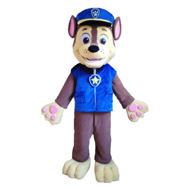Blue Paw Patrol Chase Cartoon Mascot Costume Free Shipping