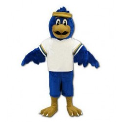 Blue Falcon Mascot Costume Character Eagle Bird Free Shipping