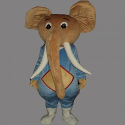 Coffee Elephant Mascot Costume Cartoon Costum Free Shipping
