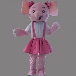 Pink Elephant Mascot Costume Cartoon Costum Free Shipping