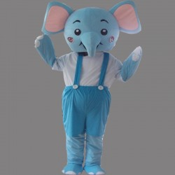Blue Elephant Mascot Costume Cartoon Costum Free Shipping