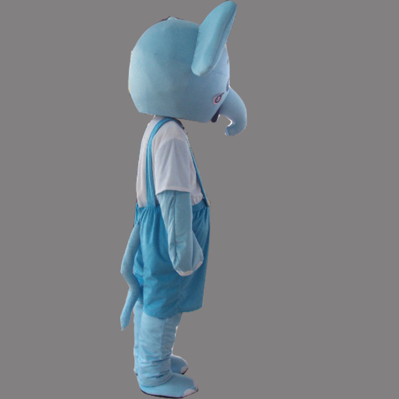 & Blue Elephant Mascot Costume Cartoon Costum Free Shipping