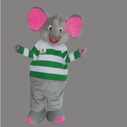 Gray & Pink Elephant Mascot Costume Cartoon Costum Free Shipping