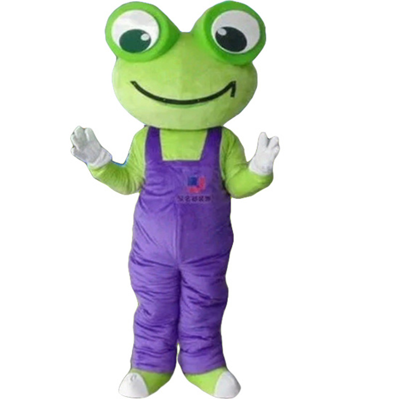 Cartoon Frog Mascot Costume Free Shipping