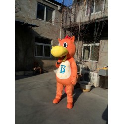 Orange Hippo Mascot Costume Free Shipping