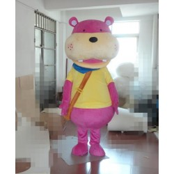 Pink Hippo Mascot Costume Free Shipping