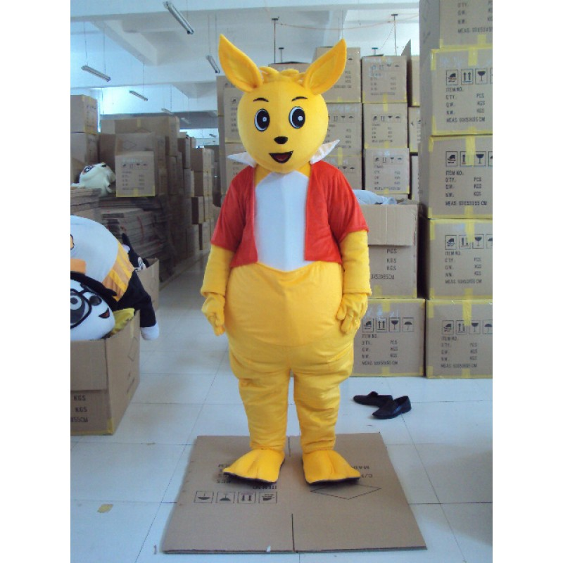 Yellow Kangaroo Mascot Costume Free Shipping