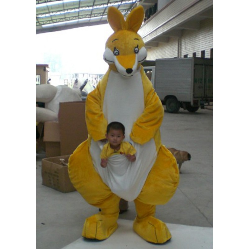 Yellow Big Kangaroo Mascot Costume Free Shipping