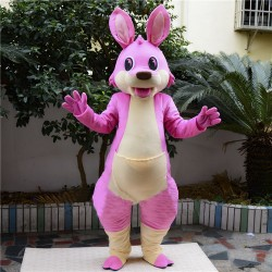 Pink Cartoon Kangaroo Mascot Costume Free Shipping