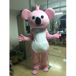 Pink Koala Cartoon Mascot Costume Free Shipping