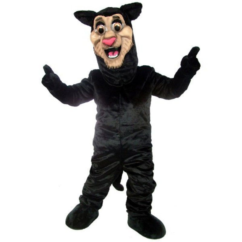 Happy Panther Mascot Costume Free Shipping