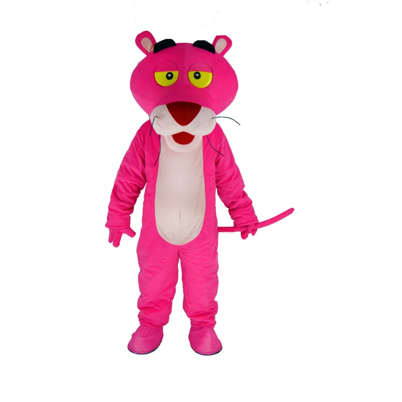 Pink Panther Mascot Costume Cartoon Free Shipping